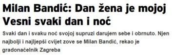 Milan Band Dan zena